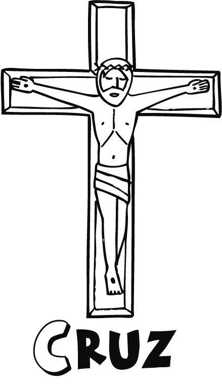 Dibujos de primera Comunión para colorear: Jesucristo en la Cruz