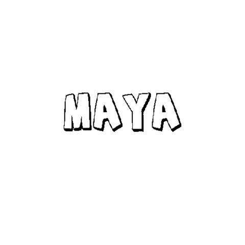 Maya Dibujos Para Colorear