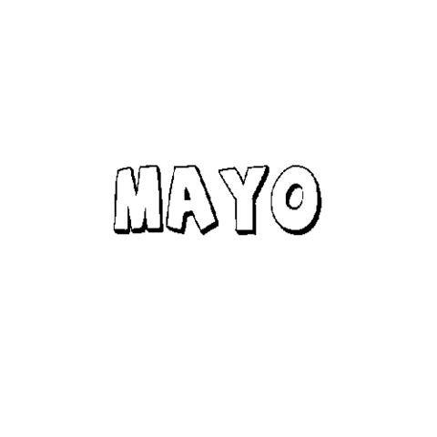 Mayo Dibujos Para Colorear