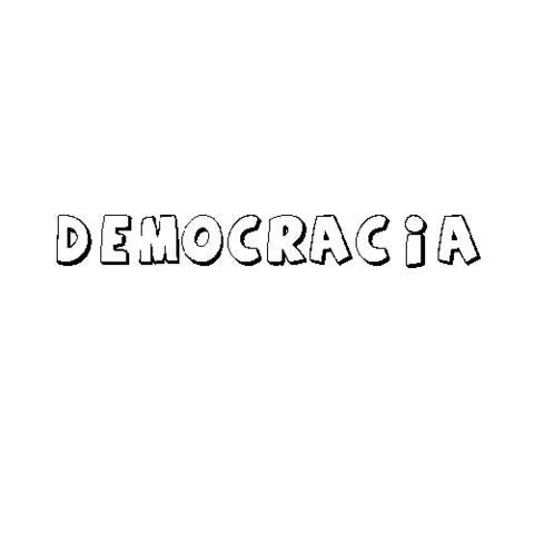 DEMOCRACIA: Dibujos para colorear