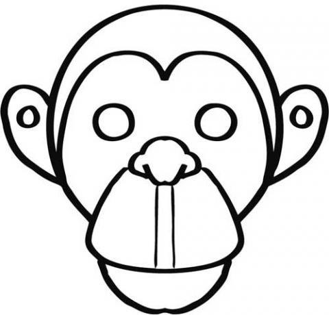 de mono para colorear Dibujos de Carnaval para nios