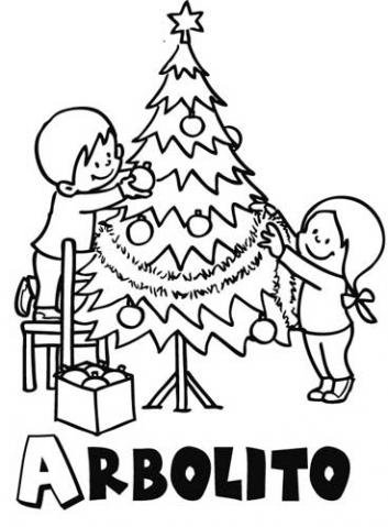 Arbolito De Navidad Decorado Con Cintas Por Niños