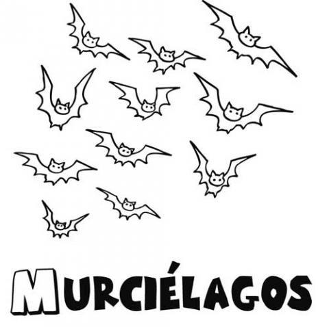 Murciélagos para colorear. Dibujos gratis para Halloween