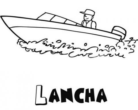 Dibujos de una lancha para colorear. Dibujos de barcos para niños
