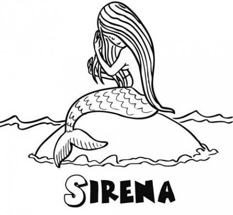 Sirena: Dibujos para colorear