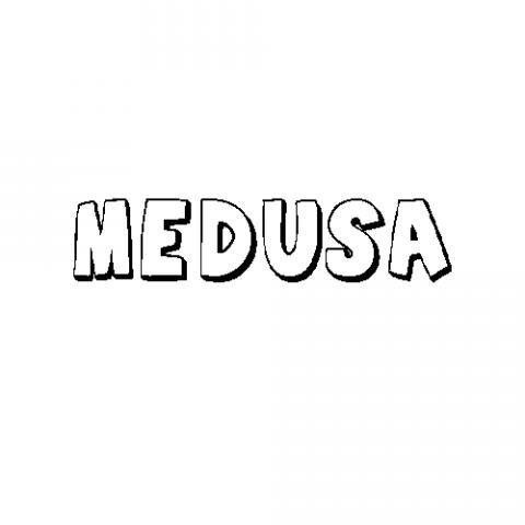 Medusa: Dibujos para colorear