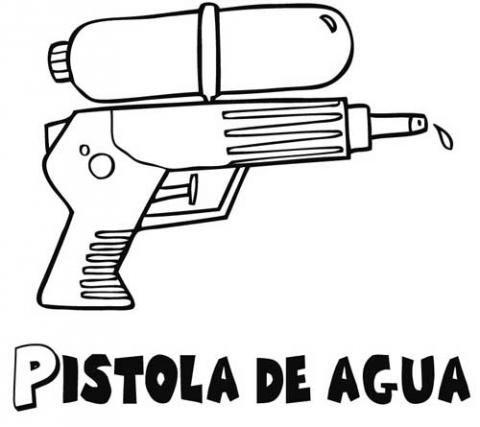 Pistola de agua: Dibujos para colorear