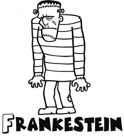 Dibujos De Monstruos Para Niños Frankenstein Para Pintar