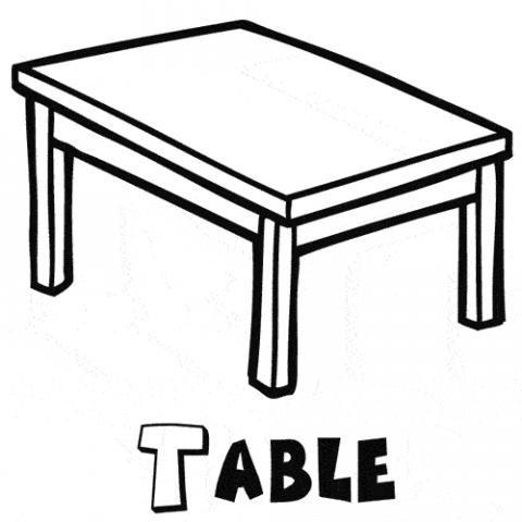 Table Dibujos Para Colorear