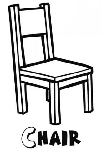 Chair dibujos para colorear for Sillas para dibujar facil