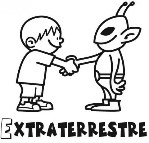 Resultado de imagen de extraterrestre dibujo