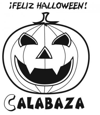 Dibujo de calabaza de halloween para pintar - Plantillas para decorar calabazas halloween ...