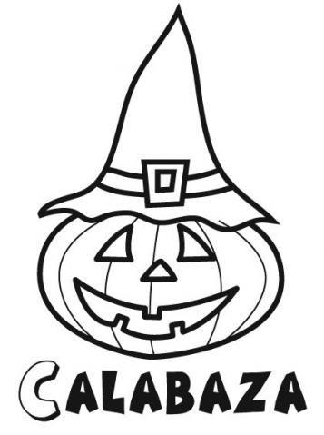 Imagen infantil de calabaza de Halloween con gorro