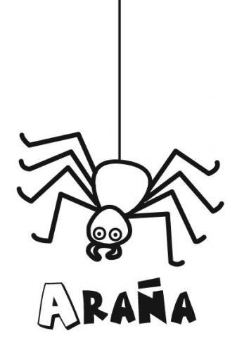 Dibujo para imprimir y colorear de una araña de Halloween