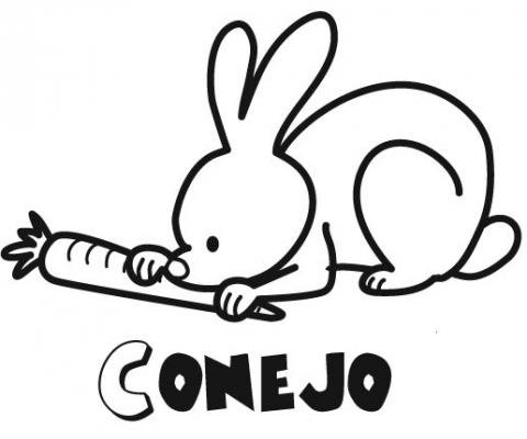 de un conejo para imprimir y colorear con los nios