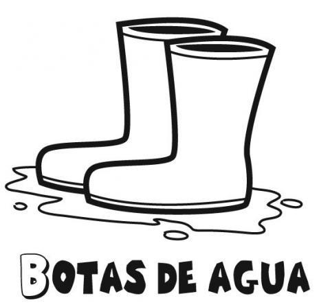 Dibujos de botas de lluvia para colorear. Dibujos de otoño para niños