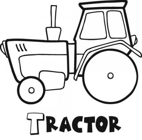 Tractor: Dibujos para colorear