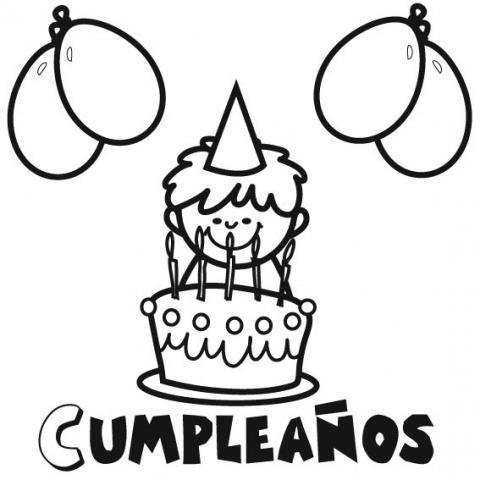 Fiesta de cumpleaños: Dibujos para colorear