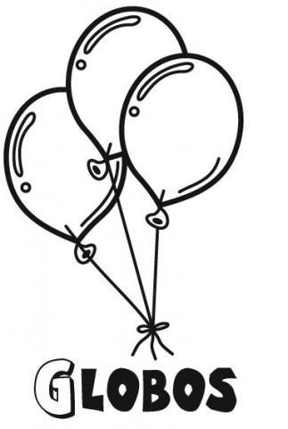 Dibujos de globos para imprimir y pintar con niños