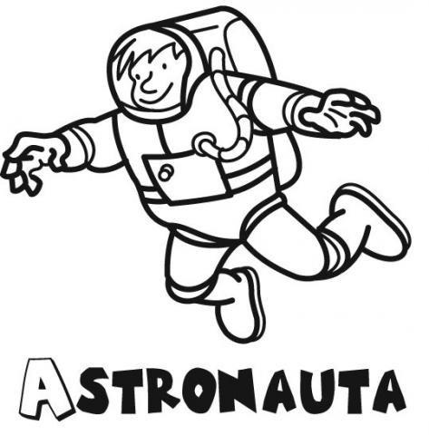 Dibujos de astronauta para colorear con niños