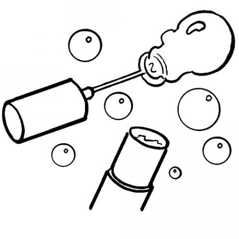Pompas de jabón: Dibujos para colorear