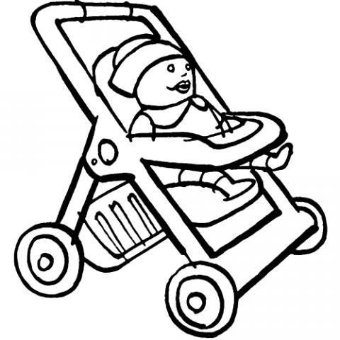 Carrito De Munecas Dibujos Infantiles Para Colorear