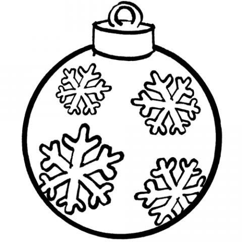 Bola de Navidad. Dibujo gratis para niños