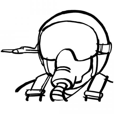 Piloto de avión: Dibujos para colorear