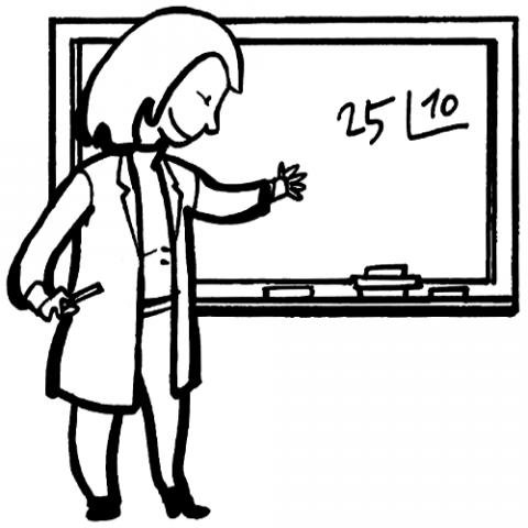 Profesora Dibujos Para Colorear