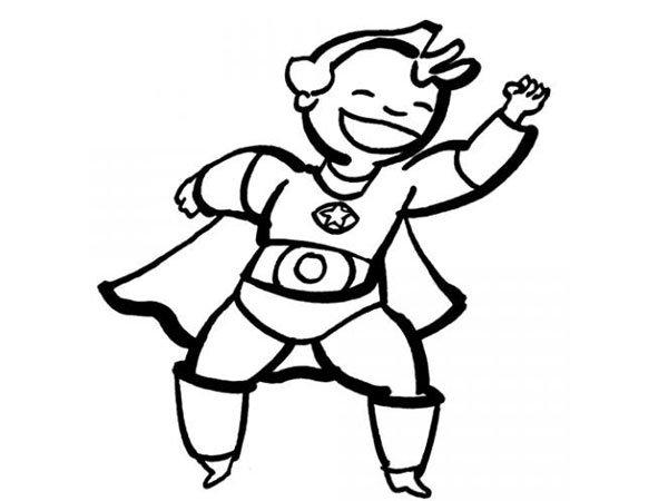 Dibujo de un disfraz de superhéroe para colorear con los niños