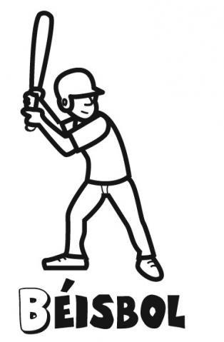 Jugador de béisbol para colorear. Dibujos de deportes para niños