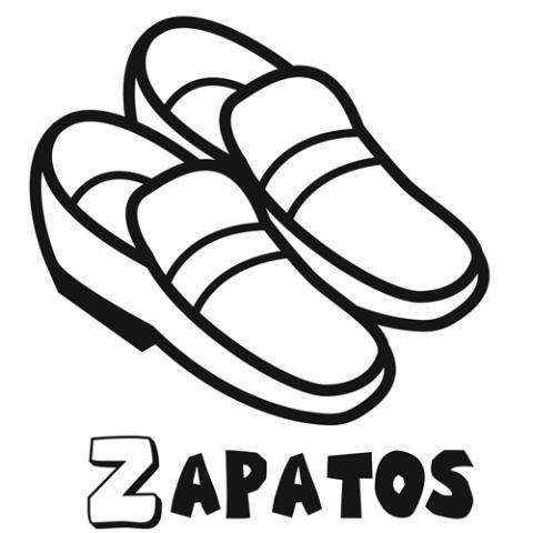 Dibujo De Zapatos Para Colorear Con Los Niños