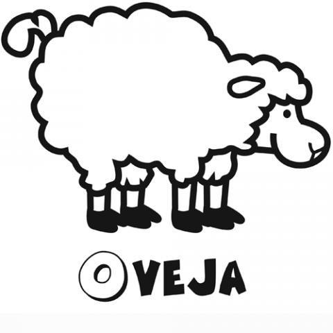 Dibujo de oveja para imprimir y colorear con los niños