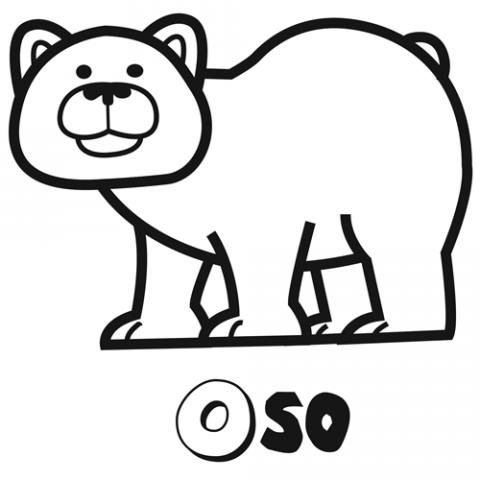 Imprimir Dibujo de oso para imprimir y colorear con los nios