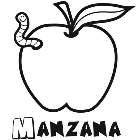 manzana para colorear Imgenes gratis de frutas