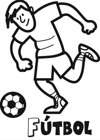 Dibujo de jugador de fútbol para colorear. Dibujos de deportes para ...