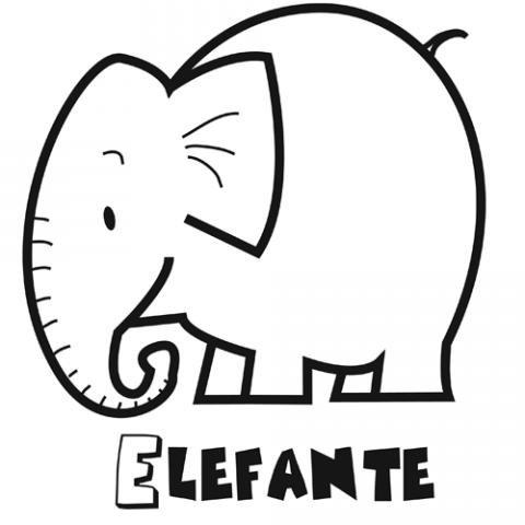 Dibujo de un elefante para colorear. Dibujos de animales para niños
