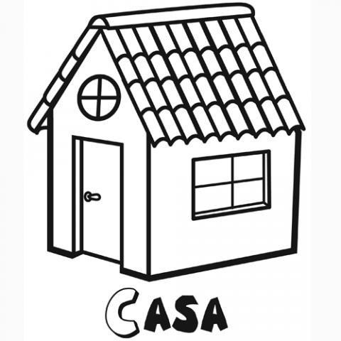Casa dibujos para colorear - Pintar las puertas de casa ...