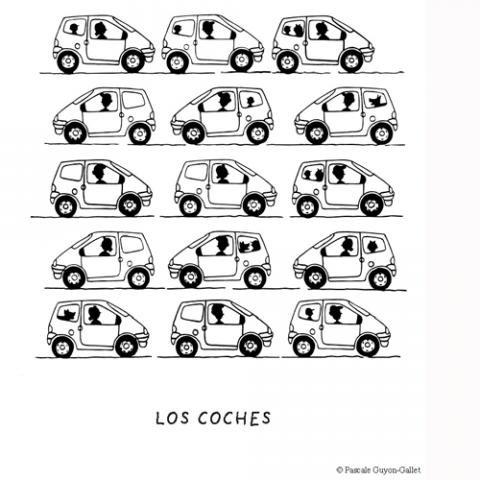 Imprimir: Coches: Dibujos para colorear