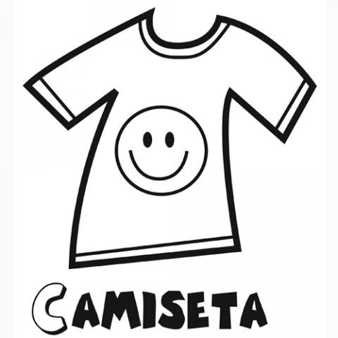 Dibujo de una camiseta para imprimir y pintar