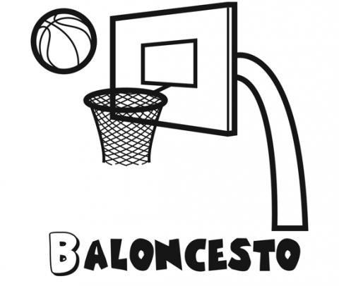 Dibujos para imprimir y colorear de baloncesto