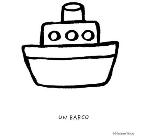 Dibujos de barcos para colorear. Imágenes de barcos para niños