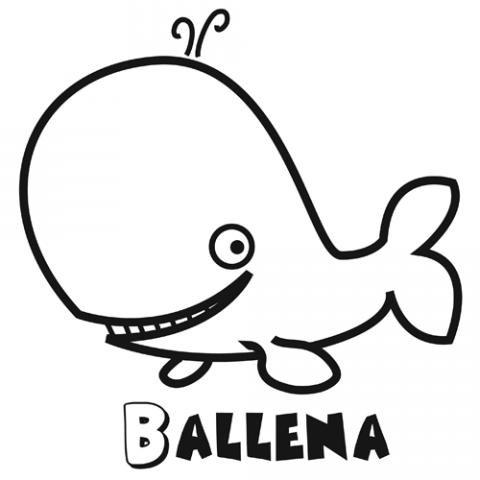 Dibujos de una ballena para colorear. Dibujos de animales para niños