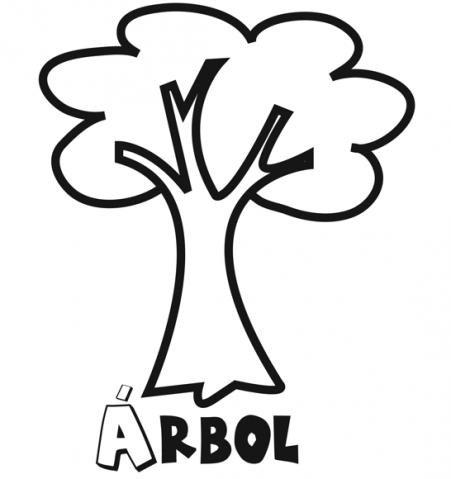 Dibujos de árbol para colorear con los niños