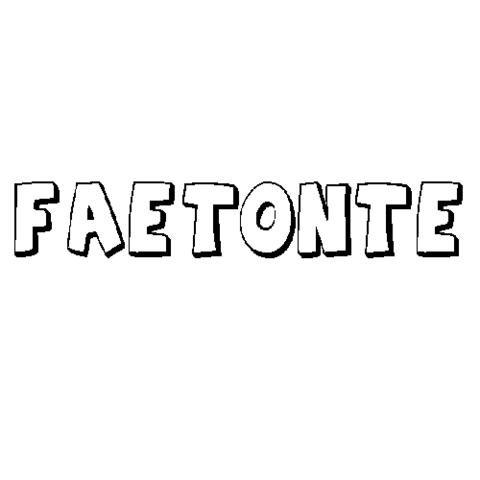 FAETONTE