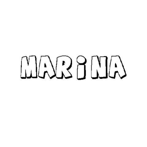 MARINA: Dibujos para colorear