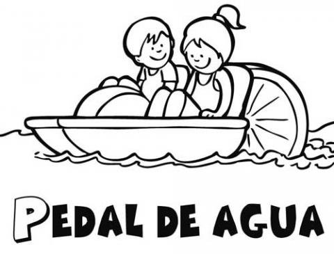 Pedal De Agua Dibujos Para Colorear