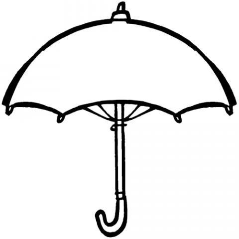 Dibujo de un paraguas para colorear con los niños