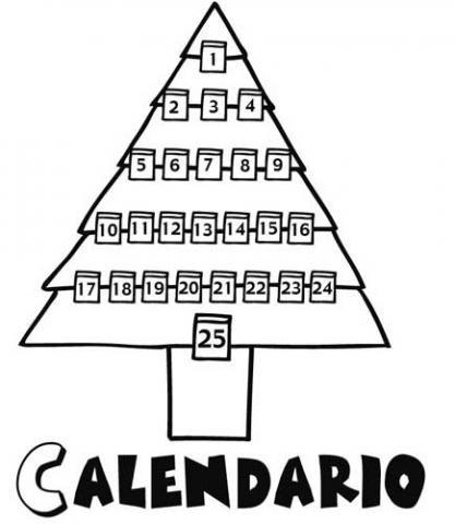 calendario de adviento para colorear en navidad por los nios