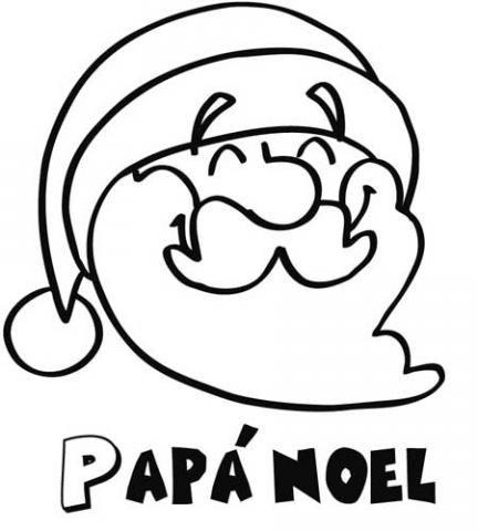 Pap noel sonriente dibujo de navidad para ni os - Dibujo de navidad para ninos ...